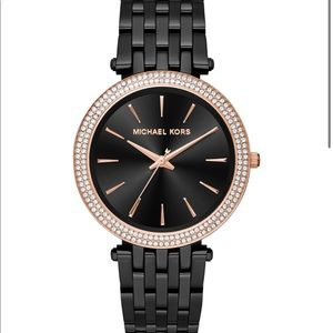 Back and Rose Gold Michael Kors Watch